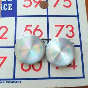 Vintage Disco Disc Earring